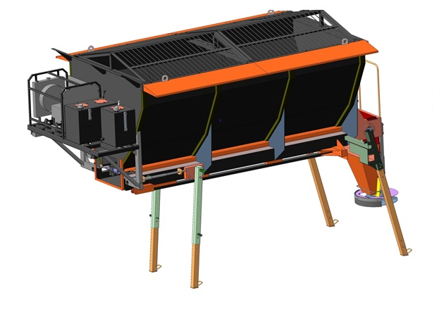 Пескоразбрасывающее оборудование с автономным приводом